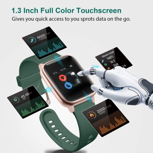 Letsfit ID205L Smartwatch Heart Rate & Activity Monitor - Emerald Perspective: left