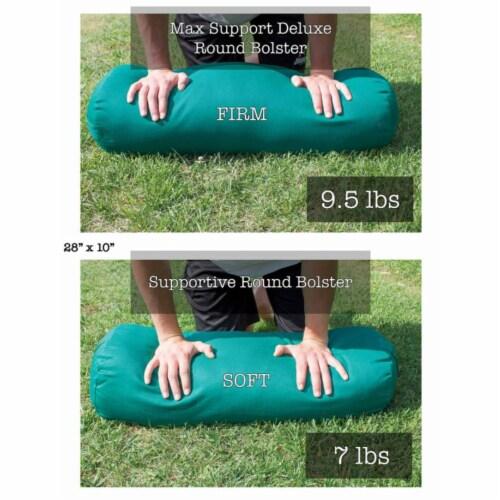 Yoga Accessories Supportive Round Cotton Restorative Yoga Bolster Pillow, Orange Perspective: left