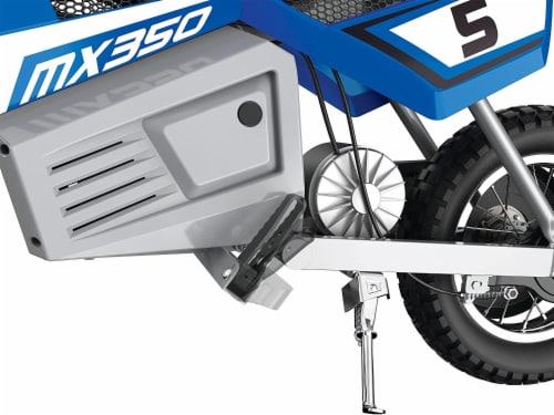 Razor MX350 Dirt Rocket 24V Electric Toy Motocross Blue Motorcycle Dirt Bike Perspective: left