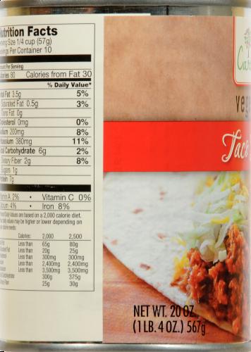Caroline's Vegetarian Taco Filling Perspective: left