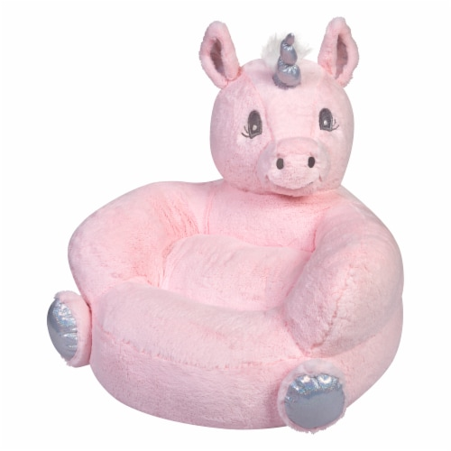 Trend Lab Plush Unicorn Character Chair - Pink Perspective: left