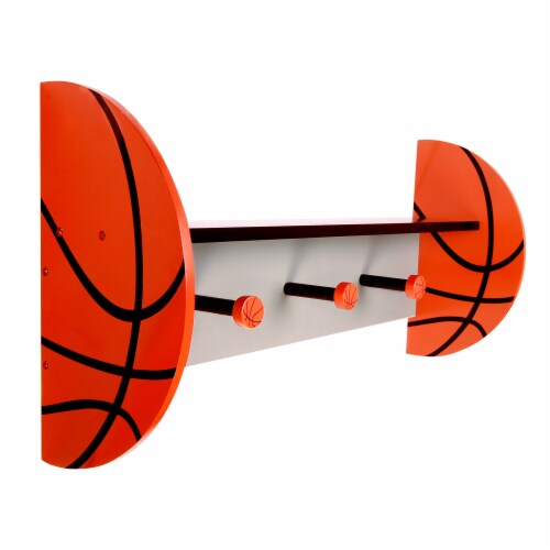 Trend Lab Basketball Wall Shelf Perspective: left