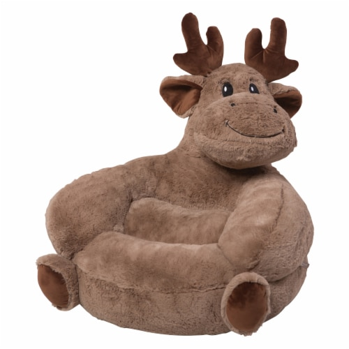 Trend Lab Children's Plush Moose Character Chair Perspective: left