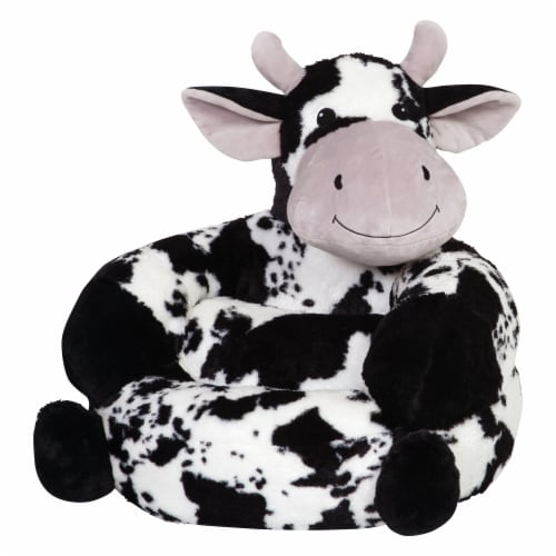 Trend Lab Children's Plush Cow Character Chair Perspective: left
