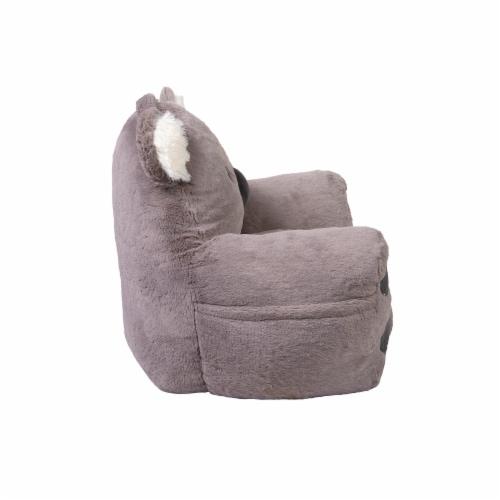 Cuddo Buddies Gray Koala Plush Chair Perspective: left