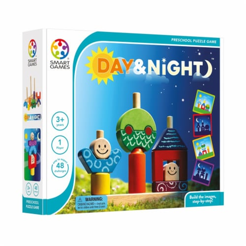 SmartGames Day & Night Preschool Puzzle Game Perspective: left