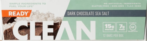 Come Ready  Clean Protein Bars- Dark Chocolate And Sea Salt Protein Bars Perspective: left