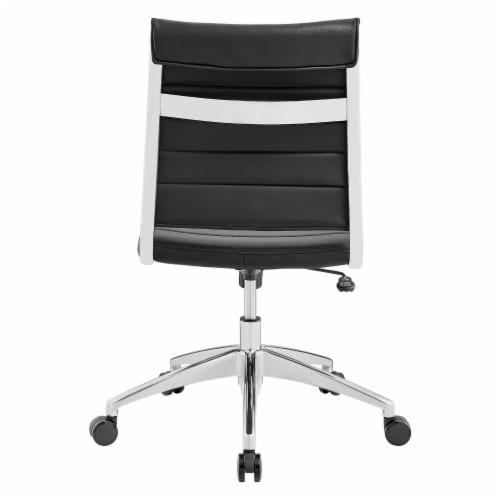 Black Jive Armless Mid Back Office Chair Perspective: left