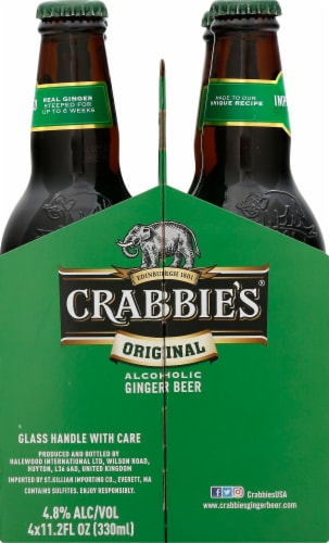 Crabbie's Original Alcoholic Ginger Beer Perspective: left