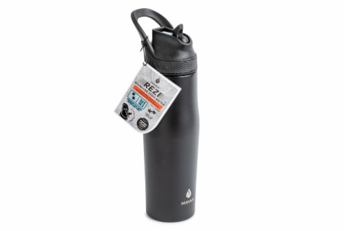 Manna Rezi Thermal Beverage Drinkware - Black Perspective: left