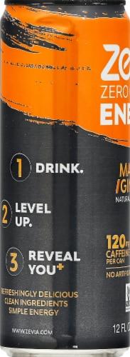 Zevia Zero Calorie Mango Ginger Energy Drink Perspective: left
