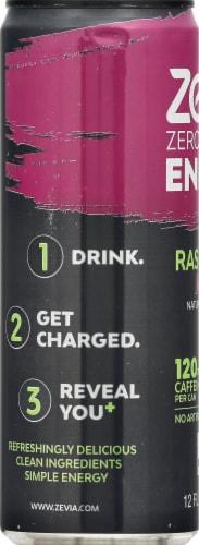 Zevia Zero Calorie Raspberry Lime Energy Drink Perspective: left