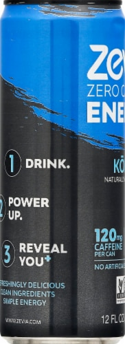 Zevia Zero Calorie Kola Energy Drink Perspective: left