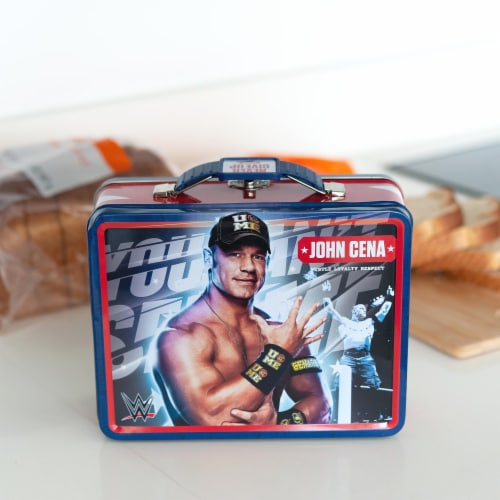 WWE Tin Lunch Box Featuring Superstar Wrestler John Cena Perspective: left