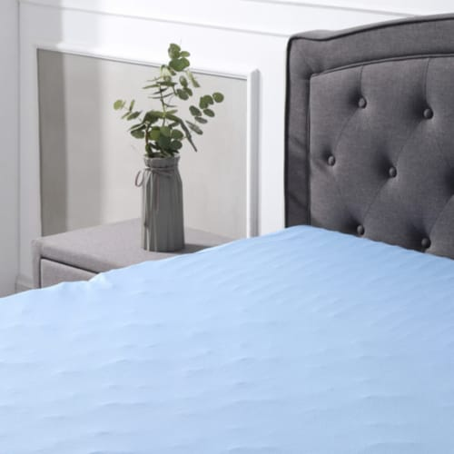 Classic Brands Cool Cloud 3 Inch Memory Foam Mattress Topper with Cover, King Perspective: left
