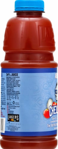 Arriba Chelada Clam & Sea Salt Tomato Juice Blend Perspective: left