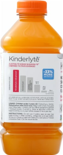 Kinderlyte Advanced Natural Raspberry Lemonade Electrolyte Solution Perspective: left