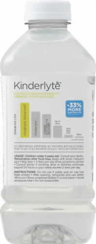 Kinderlyte Advanced Natural Hydration Coconut Lime Electrolyte Solution Perspective: left