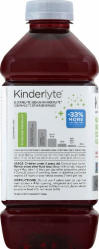 Kinderlyte Advanced Natural Wild Berry Electrolyte Solution Perspective: left