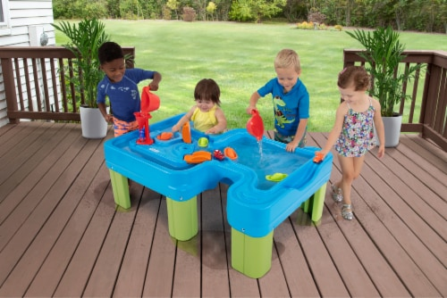 Simplay3 Big Rivers & Roads Water Play Table Perspective: left