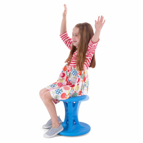 Simplay3 Big Wiggle Chair - Blue Perspective: left