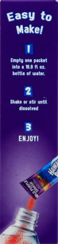 Hawaiian Punch® Sugar Free Wild Purple Smash Powdered Drink Mix Packets Perspective: left