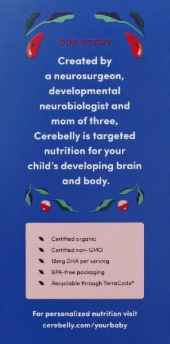 Cerebelly 5-7 Months Baby Food Pouches Varety Pack Perspective: left