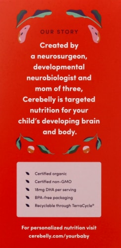 Cerebelly 8-9 Months Baby Food Pouches Variety Pack Perspective: left