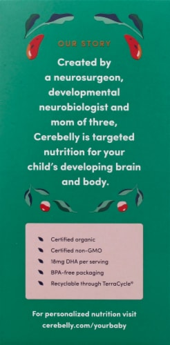 Cerebelly 10-11 Months Baby Food Pouches Variety Pack Perspective: left