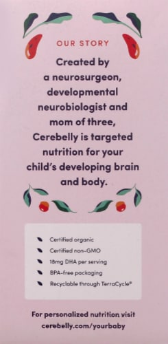 Cerebelly 11+ Months Baby Food Pouch Vareity Pack Perspective: left