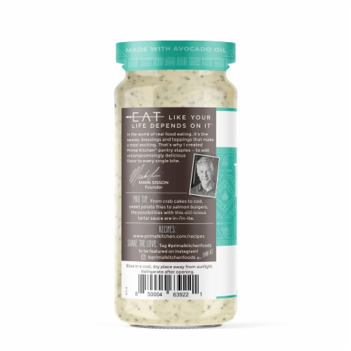 Primal Kitchen Avocado Oil Tartar Sauce Perspective: left