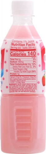 Calpico® Non-Carbonated Strawberry Soft Drink Perspective: left