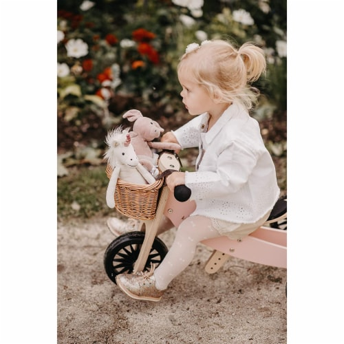 Kinderfeets Tiny Tot PLUS Toddler 2-in-1 Balance Bike and Tricycle, Rose Perspective: left