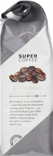 Super Coffee Dark Roast Enhanced Ground Coffee Perspective: left
