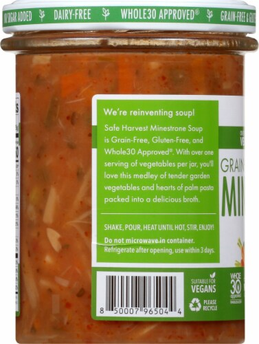 Safe Harvest Grain and Gluten Free Minestrone Soup Perspective: left