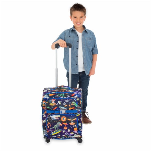 Bixbee Meme Space Odyssey Young Traveler Luggage Perspective: left