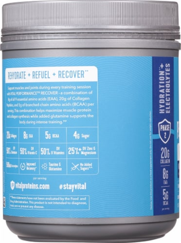 Vital Proteins Watermelon Blueberry Performance Recover Powder Perspective: left