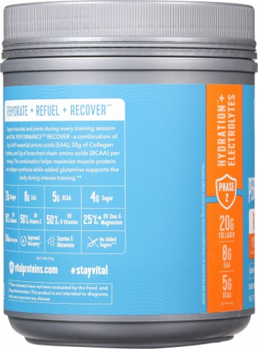 Vital Performance™ Yuzu Clementine Recover Powder Perspective: left