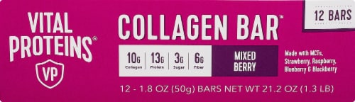 Vital Proteins Mixed Berry Collagen Bars Perspective: left