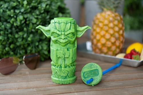 Geeki Tikis Star Wars Yoda Plastic Tumbler | Holds 17 Ounces Perspective: left