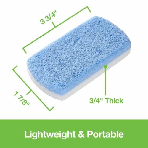 ZenToes Pedicure Pumice Stones Double Sided Fine/Coarse Callus Remover Blocks 2 Count (Blue) Perspective: left