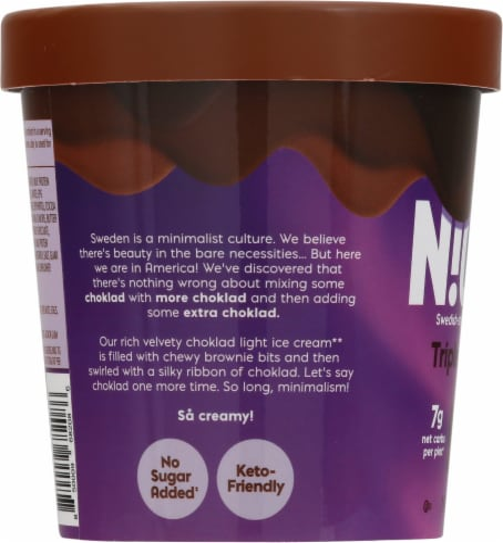 Nick's Triple Choklad Light Ice Cream Perspective: left