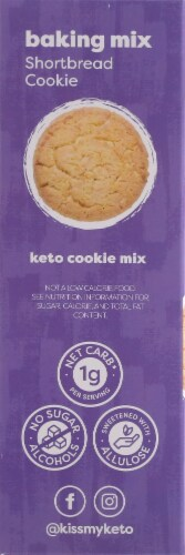 Kiss My Keto Shortbread Cookie Baking Mix Perspective: left