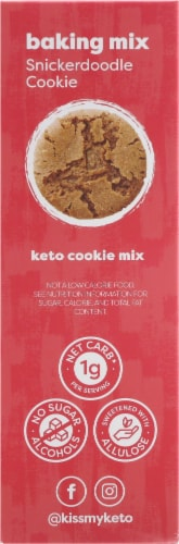 Kiss My Keto Snickerdoodle Cookie Baking Mix Perspective: left