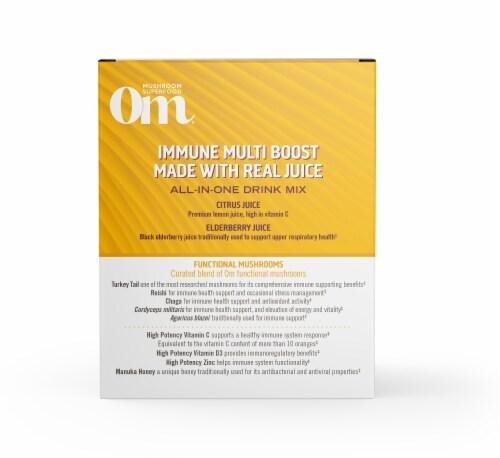 Om® Immune Multi Boost Lemon & Elderberry Juice Drink Mix Perspective: left
