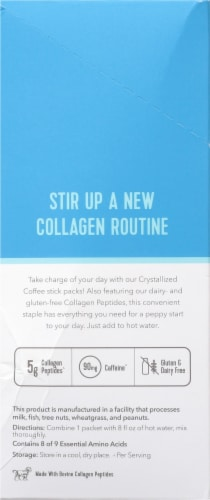 Vital Proteins® Unflavored Crystallized Coffee + Collagen Peptides Packets Perspective: left