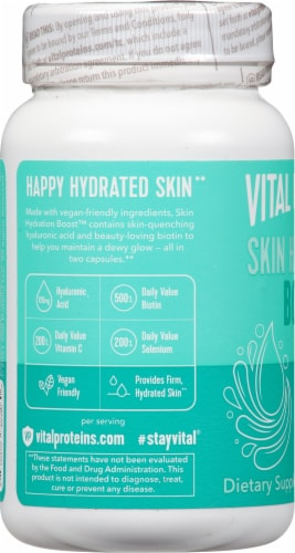 Vital Proteins Skin Hydration Boost Capsules Perspective: left