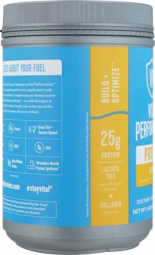 Vital Performance™ Vanilla Protein Powder Perspective: left
