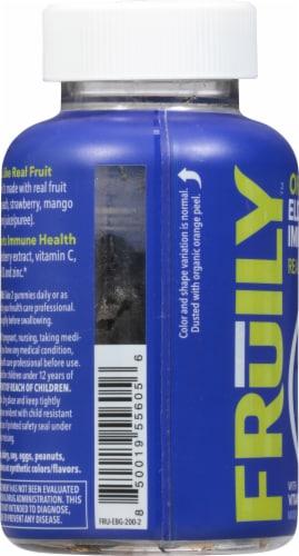 Fruily Organic Elderberry Immune Gummies Perspective: left