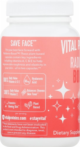 Vital Proteins Radiance Boost Capsules Perspective: left